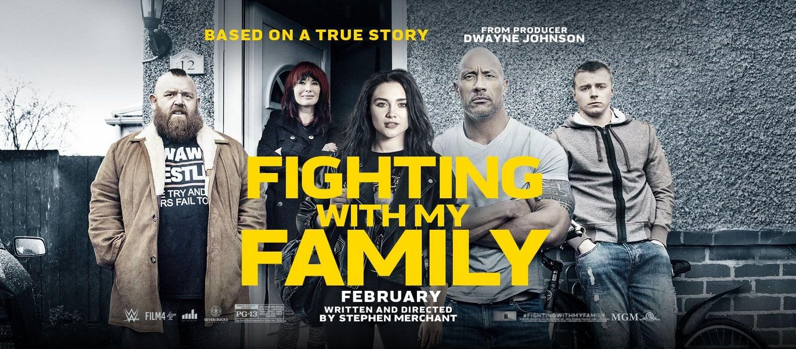 Movie, 我和我的摔角家庭 / Fighting with My Family(英國, 2019年) / 为家而战(網路), 電影海報, 英國, 橫版