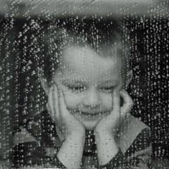 Child and rain