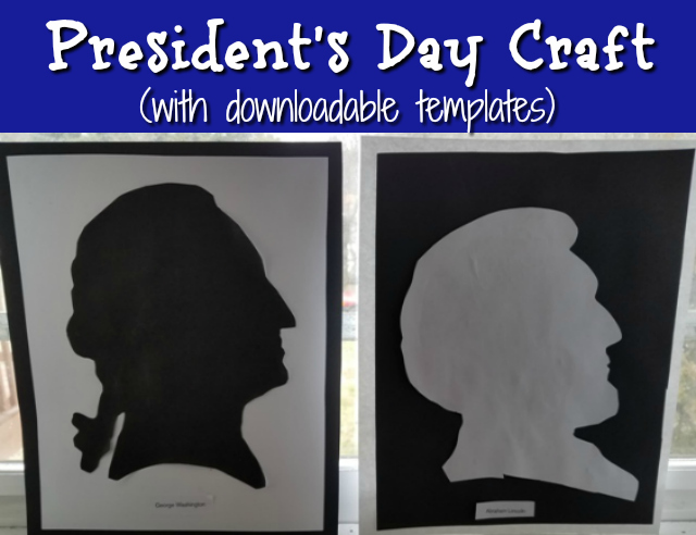 President's Day Craft (with downloadable template!)