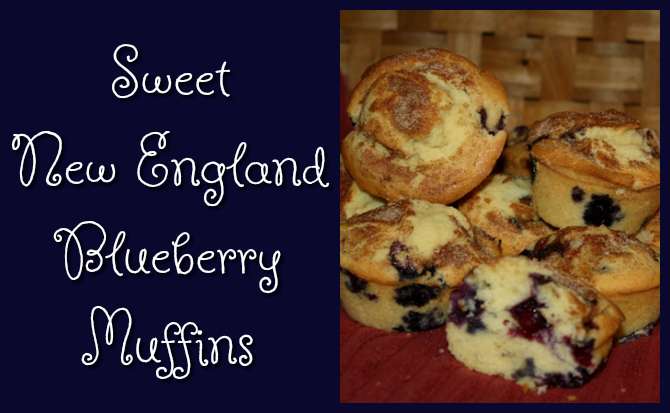 Sweet New England Blueberry Muffins