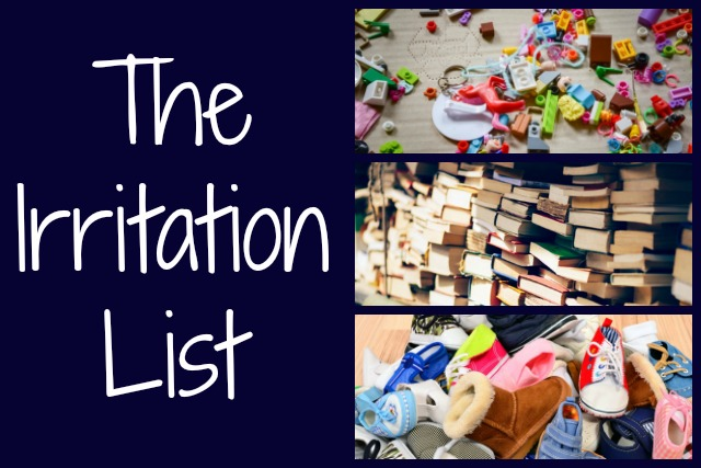 The Irritation List (or Keeping Your Sanity)