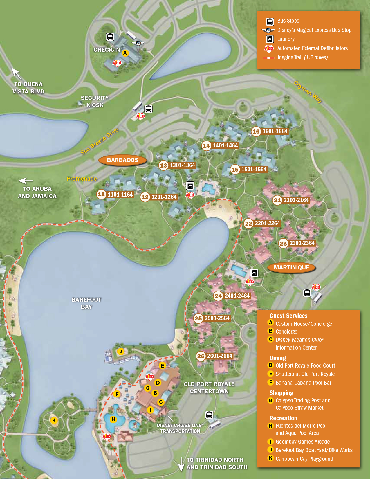 Caribbean Beach Resort Map | KennythePirate\'s Unofficial Guide to ...