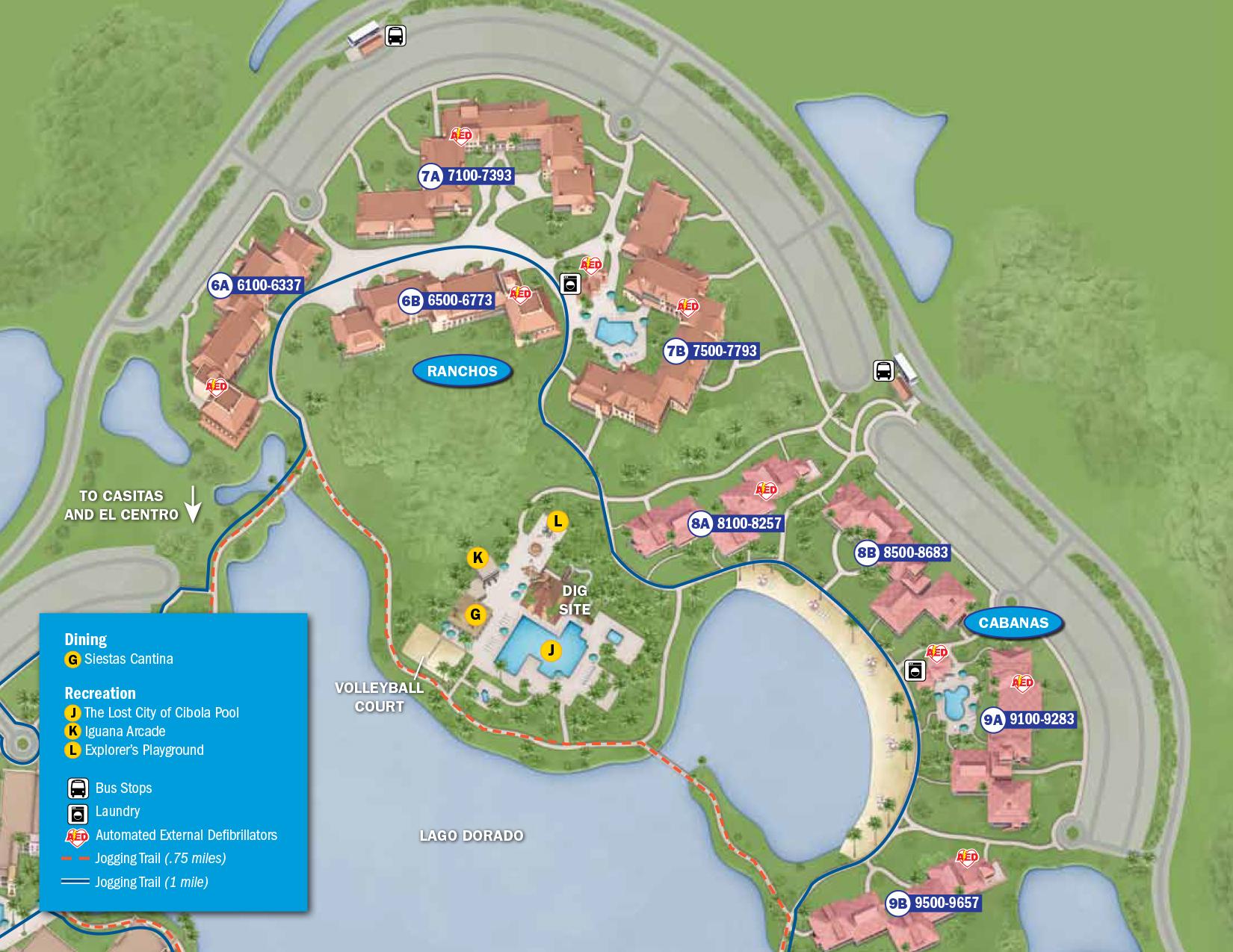 Coronado Springs Resort Map Walt Disney World
