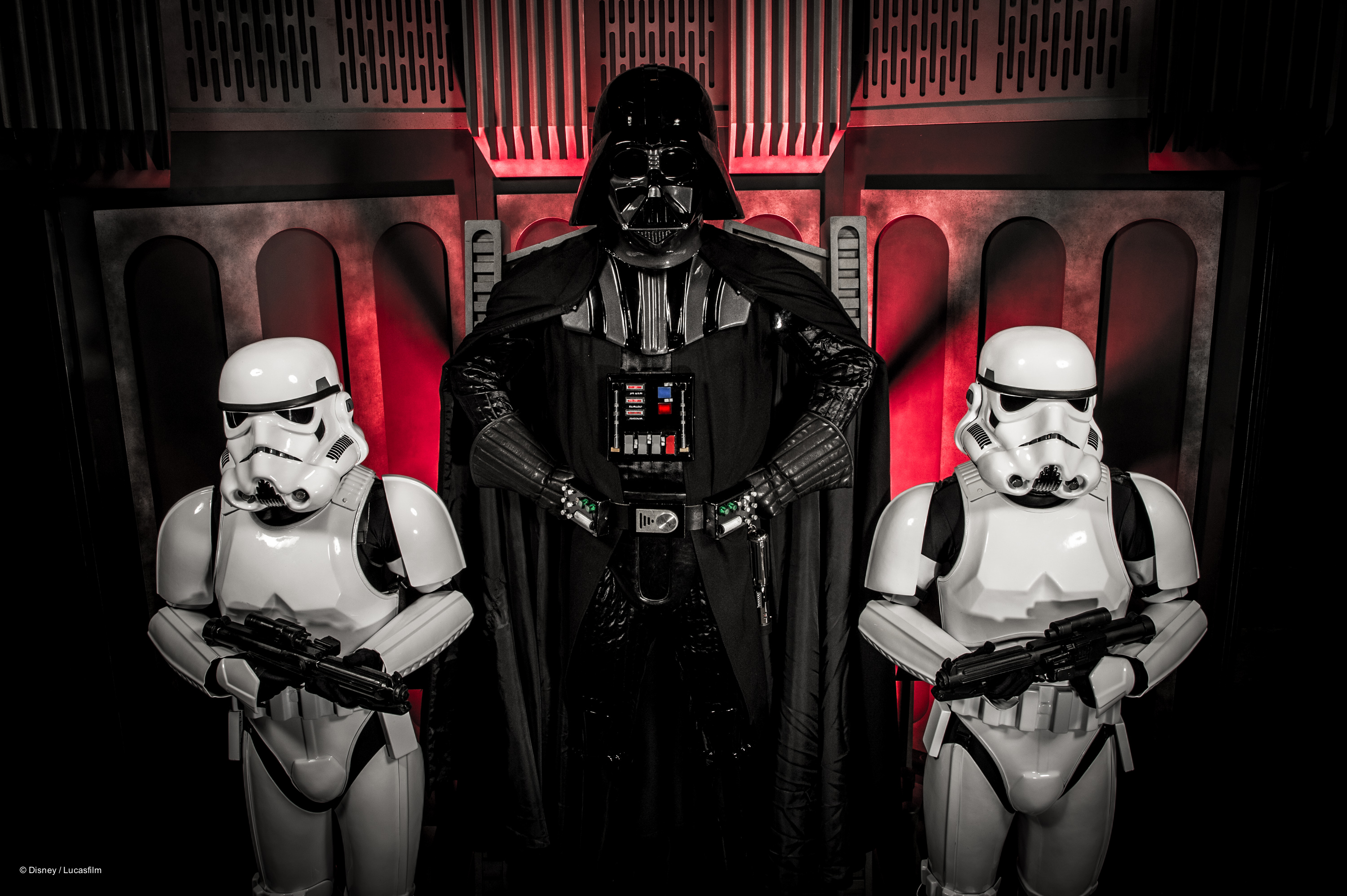Darth Vader and Stormtroopers at Star Wars Weekends