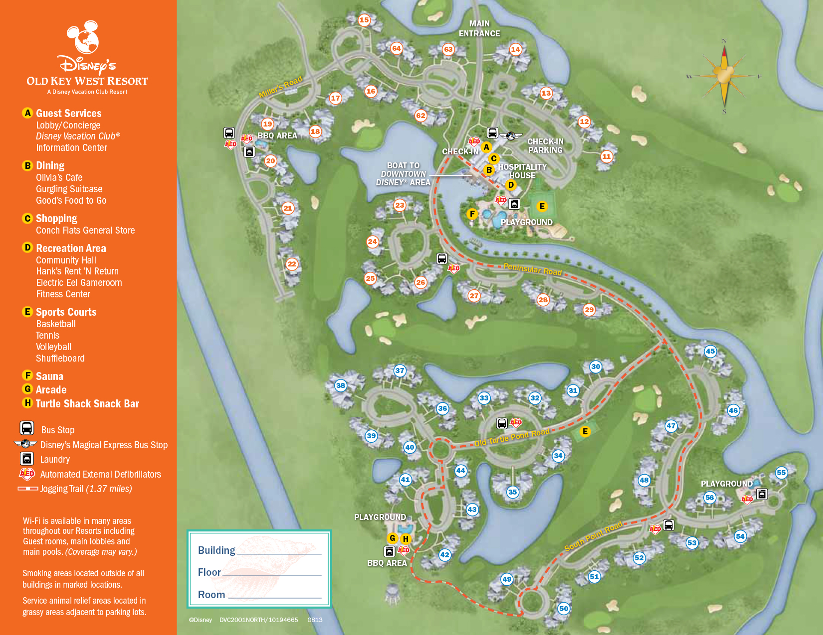 Old Key West Resort Map Walt Disney World
