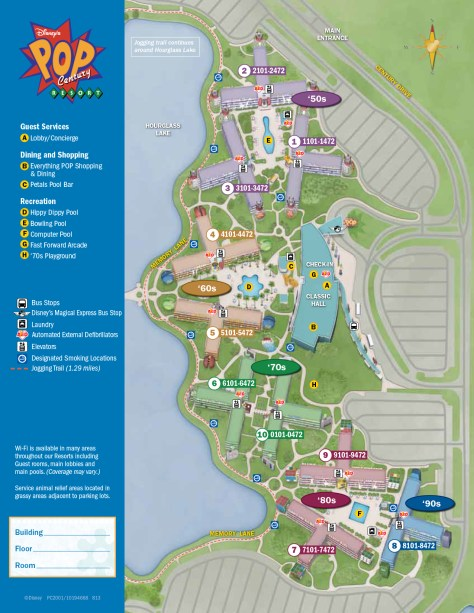 Pop Century Resort Map - KennythePirate.com