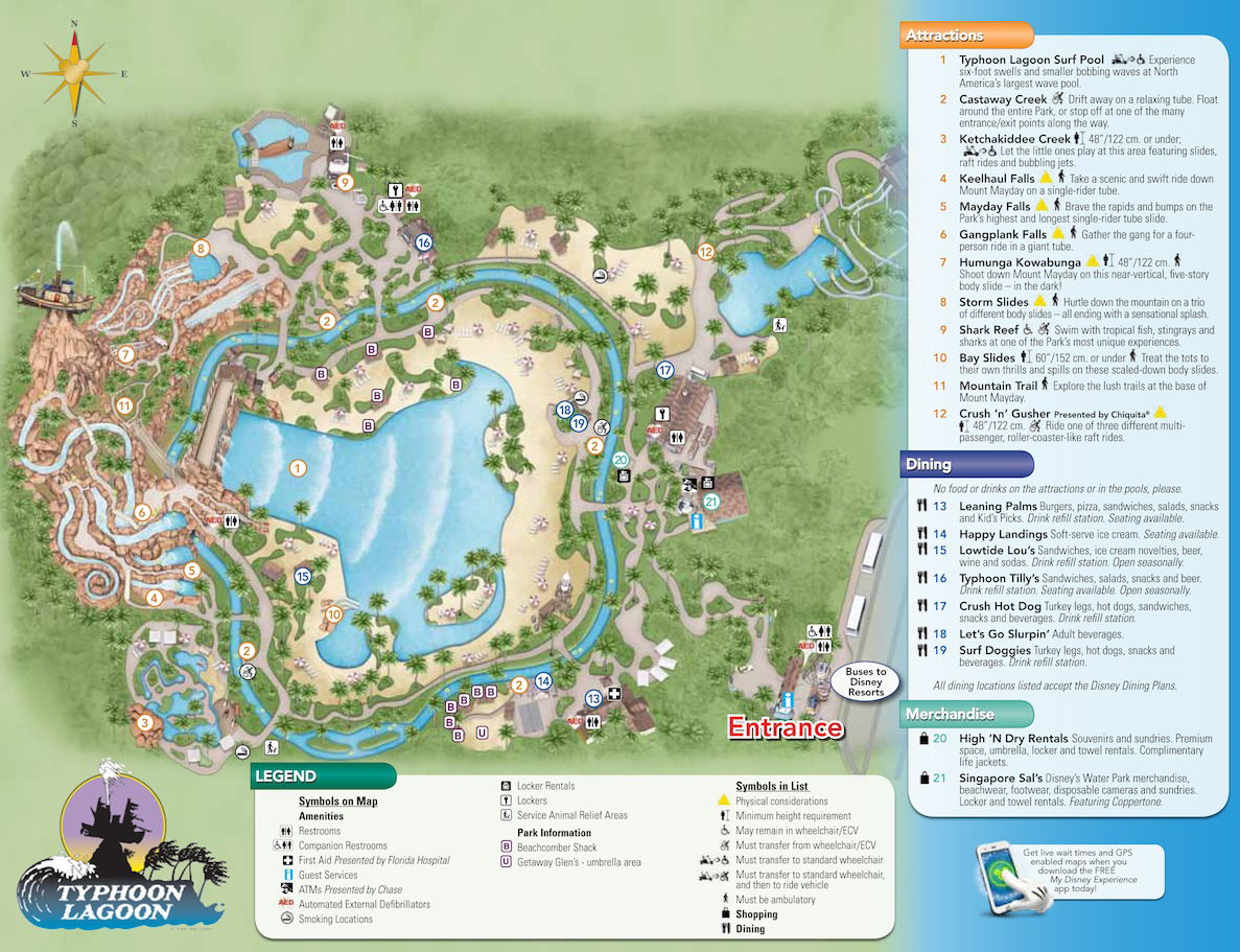 Typhoon Lagoon Map Walt Disney World