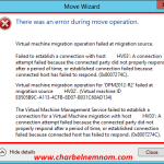 There was an error during move operation From Standalone Hyper-V To Hyper-V Cluster (0x8007274C) #Shared Nothing Live Migration