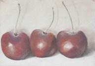 Cherries in pastel