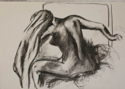 Copy of Woman drying herself after a bath by Degas