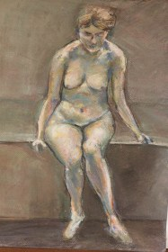 Female Nude in pastel and charcoal