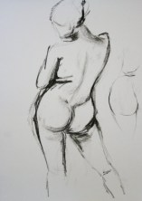 8 minute charcoal nude drawing