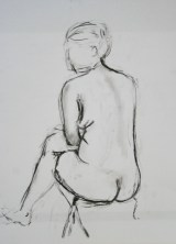 8 minute nude charcoal drawing