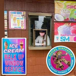Ice Cream - Walk Up Window Service - Social Distancing