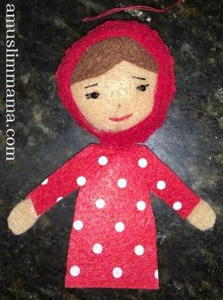 Felt Muslim doll finger puppet DIY (24)