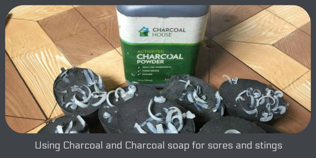 charcoal soap for sores