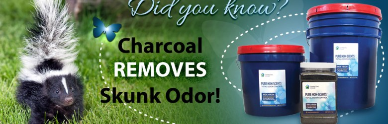 skunk header - Did you know charcoal removes skunk odor?
