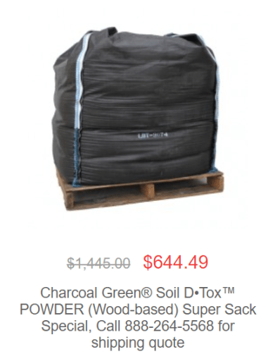 super sack - April Featured Product: Soil D•Tox™ POWDER Wood-based