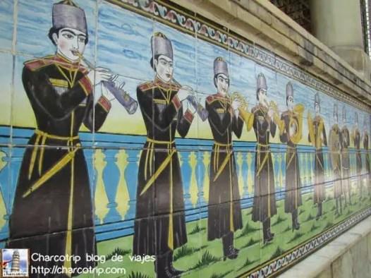 Detalles de los azulejos, mas de los sha