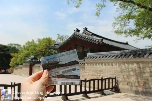 Boletos para el tour del Huwon