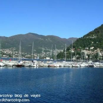 Botes en el Lago de Como