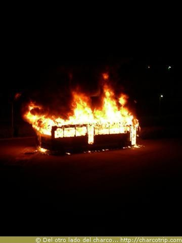 Y ahí estaba, en medio de las llamas