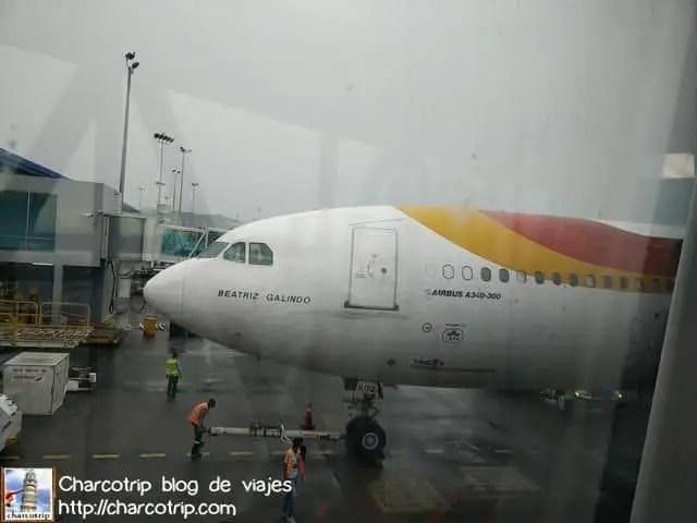 Adiós avión Beatriz Galindo, espero no volverte a ver.