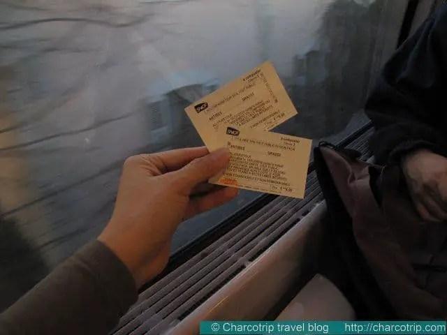 Los boletos de tren