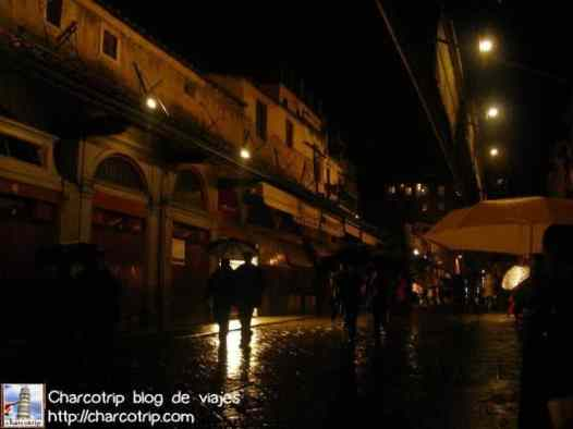 Florencia bajo la lluvia