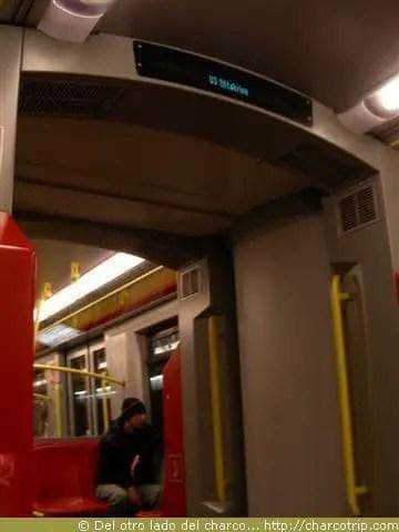 interior del metro