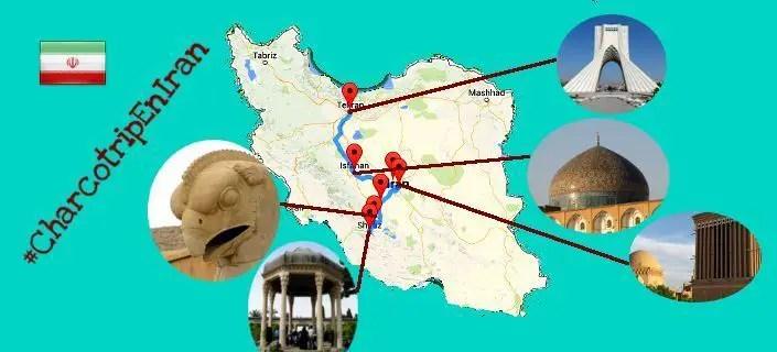 Mapa de nuestra ruta por Irán