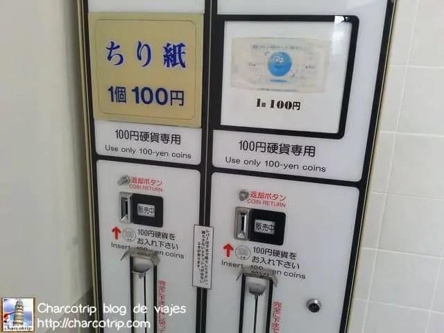 Papel higiénico aquí, pero primero paga