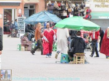 Gente de la plaza