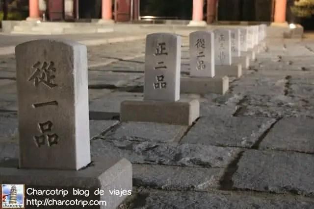 Lapidas igual que en los otros palacios