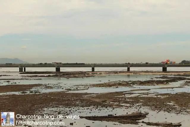 Puente y marea baja
