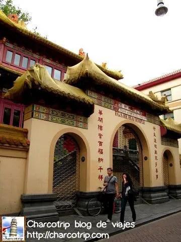 Una puerta china, todo lo que estaba en esa calle estaba escrito en chino :D