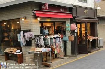 Venta de ropa en Corea