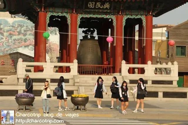 Las estudiantes de Suwon