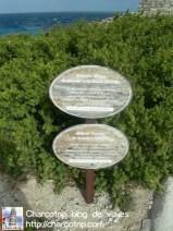 Letrero en el Templo de la Diosa Ixchel en Isla Mujeres