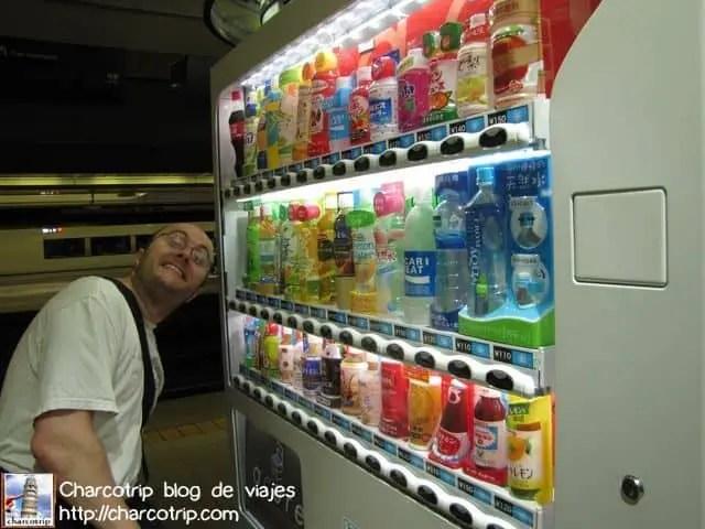 Primer encuentro con las vending machines japonesas que me encantaron!