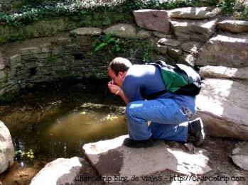 Vicente bebiendo, no no solo era para la foto