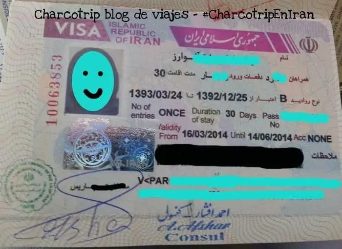 Mi visa de Irán