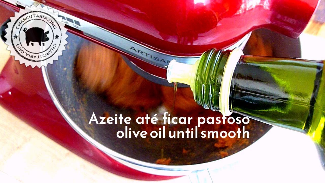 misturar com azeite