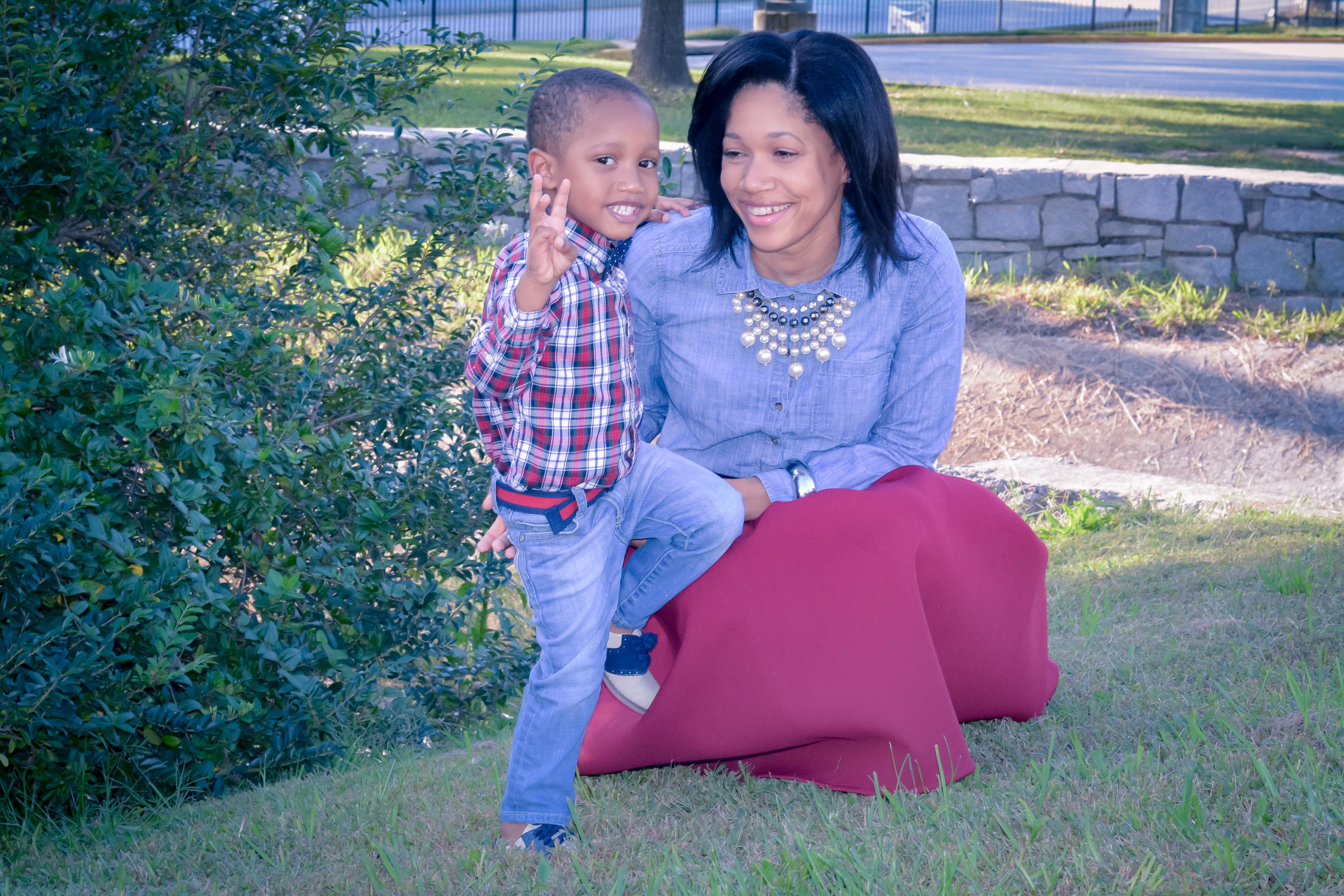 Charee Lenee & son, Mason