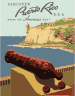 Vintage Travel Poster Puerto Rico