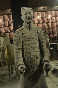 A Terracotta Warrior Standing Guard
