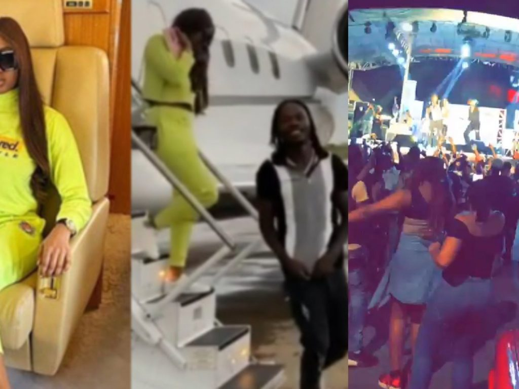 After violating interstate travel ban to hosting a fully packed show in Abuja, Naira Marley and Kim Oprah are now in the news.