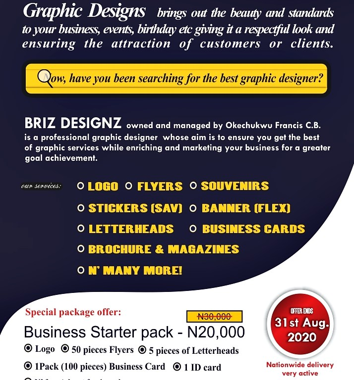 "#AD: ""Get a special Graphic design package that'll attract more customers to your business!"""