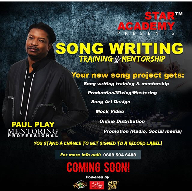 "#AD: ""Veteran Musician, Paul Play Dairo, teams up with Industry Professionals to launch Song Writing Training & Mentorship"""