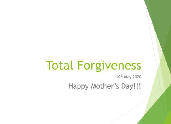 Total Forgiveness – Mr. Roger Cheng